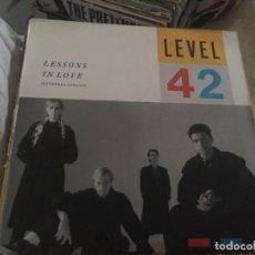 Discos de vinilo: LEVEL 42: LESSONS IN LOVE. Lote 191622410