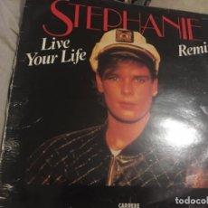 Discos de vinilo: STEPHANIE: LIVE YOUR LIFE. Lote 191626838