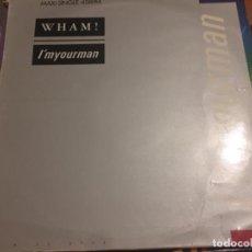 Discos de vinilo: WHAM! I'M YOUR MAN. Lote 191637840