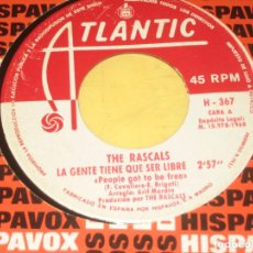 Discos de vinilo: THE RASCALS - ED. ESPAÑOLA 1968. Lote 191649261