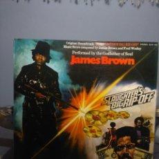 Discos de vinilo: LP JAMES BROWN , THE GODFATHER OF SOUL ( SOUNDTRACK Y CANCIONES DE LA PELICULA MASACRE ). Lote 191649926