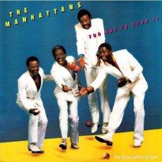 Discos de vinilo: THE MANHATTANS / TOO HOT TO STOP IT - LP (CBS, 1985) EDICIÓN USA. Lote 191658796