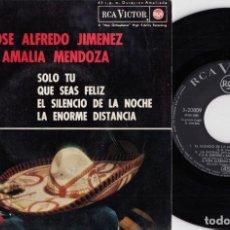 Discos de vinilo: JOSE ALFREDO JIMENEZ / AMAMLIA MENDOZA - EP COMPARTIDO ESPAÑOL DE VINILO DE 1964 RANCHERAS #. Lote 191666983