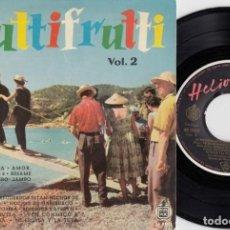 Discos de vinilo: ERWIN HALLETZ OLIVE MOOREFIELD JIMMY MAHULIS HAZY OSTERWALD - TUTTI FRUTTI 2 EP ESPAÑOL DE VINILO #. Lote 191667430