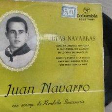 Discos de vinilo: E P ( VINILO) DE JUAN NAVARRO AÑOS 50. Lote 191668182