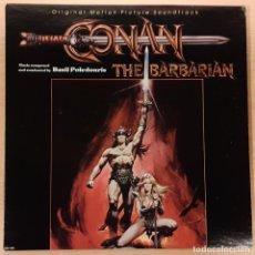 Discos de vinilo: CONAN EL BÁRBARO (CONAN THE BARBARIAN) BASIL POLEDOURIS (RARÍSIMO). Lote 191674276