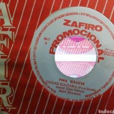 Discos de vinilo: FINA GALICIA SINGLE PROMOCIONAL CIUDAD SOLITARIA 1964 EN PERFECTO ESTADO /2. Lote 191694085