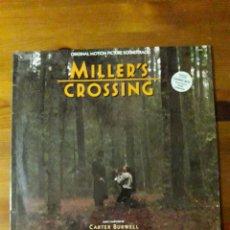 Discos de vinilo: MILLER'S CROSSING, (MUERTE ENTRE LAS FLORES) CARTER BURWELL. Lote 191696271