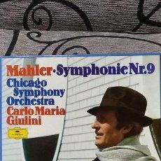 Discos de vinilo: MAHLER*,CHICAGO SYMPHONY ORCHESTRA*,CARLO MARIA GIULINI_–SYMPHONIE NR.9. Lote 191696803