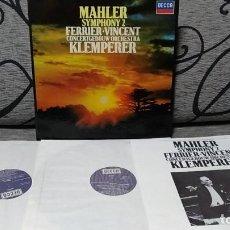 Discos de vinilo: MAHLER*,KLEMPERER*,JO VINCENT,KATHLEEN FERRIER_–SYMPHONY NO. 2. Lote 191696835