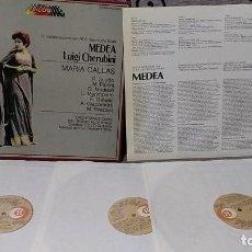 Discos de vinilo: MEDEA LUIGI CHERUBINI - MARIA CALLAS - ORCHESTRA E CORO DEL TEATRO ALLA SCALA. Lote 191696855