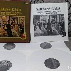 Discos de vinilo: STRAUSS GALA - ORQUESTA FILARMONICA DE VIENA WILLI BOSKOVSKY. Lote 191696865