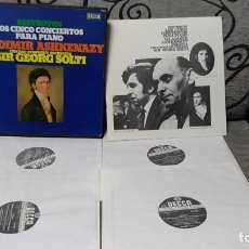 Discos de vinilo: BEETHOVEN*,VLADIMIR ASHKENAZY,CHICAGO SYMPHONY ORCHESTRA*,SIR GEORG SOLTI*_–THE FIVE PIANO CONC. Lote 191696880