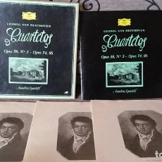 Discos de vinilo: LUDWIG VAN BEETHOVEN . CUARTETOS OPUS 59, N3 - OPUS 64, 95. Lote 191696888