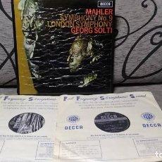 Discos de vinilo: MAHLER - SYMPHONY N9 LONDON SYMPHONY GEORG SOLTI. Lote 191696911