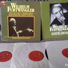 Discos de vinilo: WILHELM FURTWÄNGLER,WIENER PHILHARMONIKER_–OUVERTUREN SERENADEN SINFONISCHE DICHTUNGEN. Lote 191696940