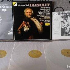 Discos de vinilo: GIUSEPPE VERDI - FALSTAFF. Lote 191696946