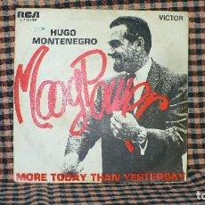 Discos de vinilo: HUGO MONTENEGRO -- MOOG POWER / MORE TODAY THAN YESTERDAY, RCA, 3-10468, 1969.. Lote 191698726