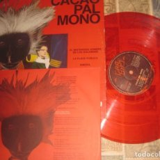 Discos de vinilo: CACAO PAL MONO - EL MISTERIOSO HOMBRE ENCARTE VINILO ROJO (GIRA 1984) OG ESPAÑA. Lote 191699980