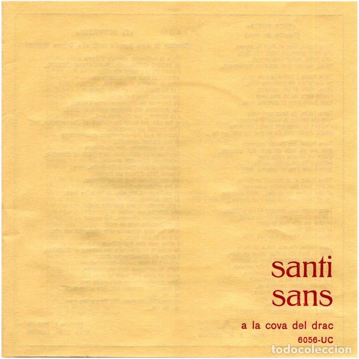 Discos de vinilo: Santi Sans – A La Cova Del Drac - Ep Spain 1967 - Concentric 6056-UC - Catalá - Foto 3 - 191703248
