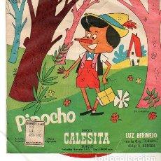 Discos de vinilo: LUZ BERMEJO, ORQUESTA CALESITA – PINOCHO / EL FERROVIARIO - SINGLE ARGENTINA (CA-77). Lote 191705938
