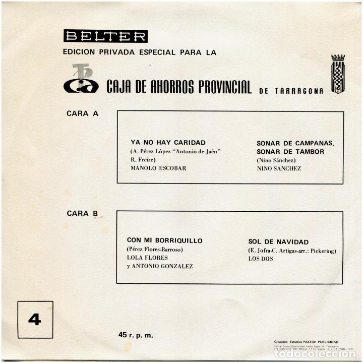 Discos de vinilo: VVAA (Manolo Escobar, Ninio Sanchez, Lola Flores y A. Gonzalez, Los Dos) - Feliz Navidad - Belter - Foto 2 - 191710550