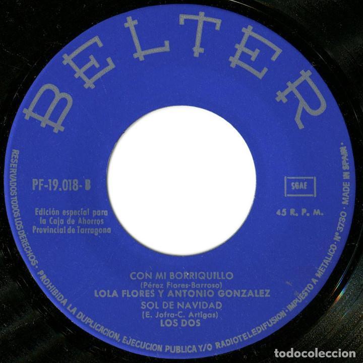 Discos de vinilo: VVAA (Manolo Escobar, Ninio Sanchez, Lola Flores y A. Gonzalez, Los Dos) - Feliz Navidad - Belter - Foto 4 - 191710550