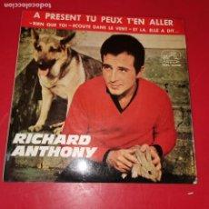 Discos de vinilo: RICHARD ANTHONY ---A PRESENT TU PEUX TÉN ALLER. Lote 191710776
