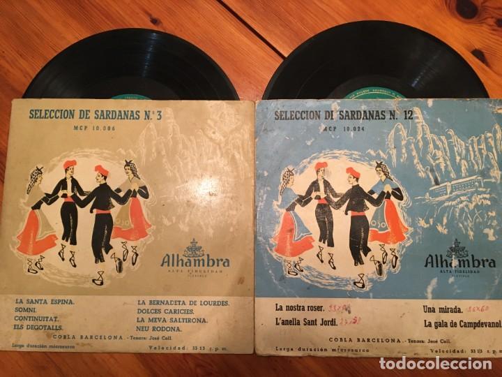 COBLA BARCELONA, SELECCION DE SARDANAS Nº 3 Y Nº 12 MINI LP , ALHAMBRA LOTE 2 DICOS (Música - Discos - LP Vinilo - Orquestas)