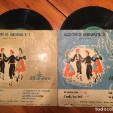 Discos de vinilo: COBLA BARCELONA, SELECCION DE SARDANAS Nº 3 Y Nº 12 MINI LP , ALHAMBRA LOTE 2 DICOS. Lote 191716315