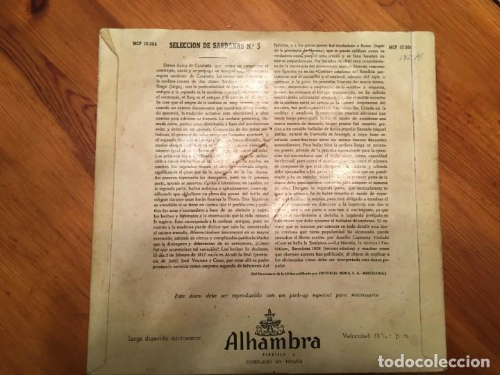 Discos de vinilo: cobla barcelona, seleccion de sardanas nº 3 y nº 12 mini LP , alhambra lote 2 dicos - Foto 2 - 191716315