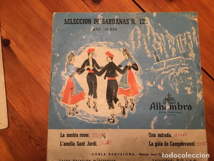 Discos de vinilo: cobla barcelona, seleccion de sardanas nº 3 y nº 12 mini LP , alhambra lote 2 dicos - Foto 5 - 191716315