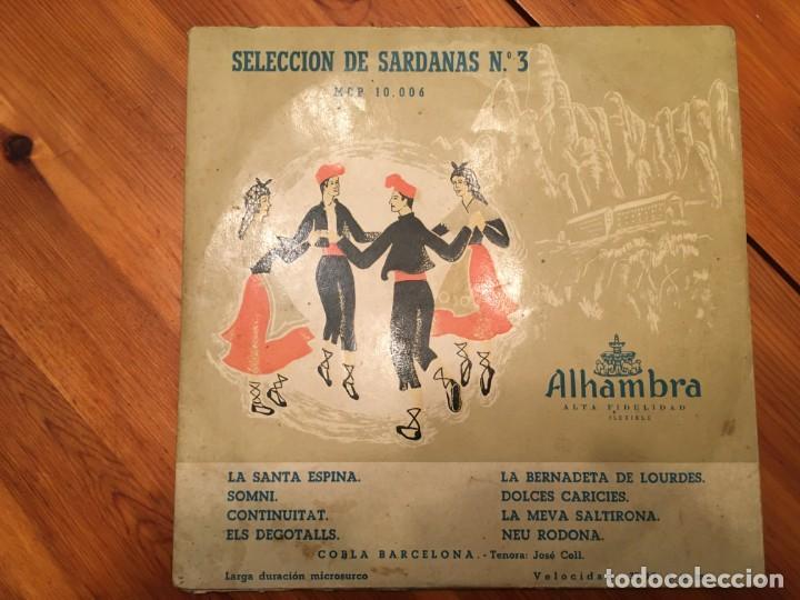 Discos de vinilo: cobla barcelona, seleccion de sardanas nº 3 y nº 12 mini LP , alhambra lote 2 dicos - Foto 6 - 191716315