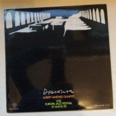 Discos de vinilo: ALBERT GIMÉNEZ QUARTET* – DISCOURS - LIVE EUROPA JAZZ FESTIVAL, LE MANS 85 - FILOBUS RECORDS 1986. Lote 191722821