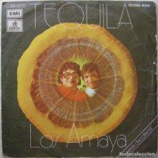 Discos de vinilo: LOS AMAYA – TEQUILA, ODEON 1 J 006-21.177, 1 J006-21.177. Lote 191726857