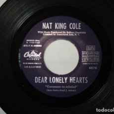 Discos de vinilo: NAT KING COLE / DEAR LONELY HEARTS / WHO'S NEXT IN LINE?. Lote 191732520