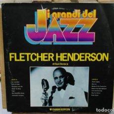 Discos de vinilo: FLETCHER HENDERSON - I GRANDI DEL JAZZ - LP. DEL SELLO FABRI EDITORI . Lote 191733671