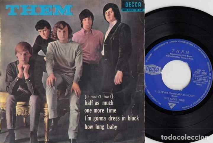 THEM - (IT WONT HURT) HALF AS MUCH - EP ESPAÑOL DE VINILO VAN MORRISON # (Música - Discos de Vinilo - EPs - Pop - Rock Extranjero de los 50 y 60)
