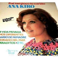 Discos de vinilo: V366 - ANA KIRO. FUE TAN POCO TU CARIÑO. GALICIA. LP VINILO. Lote 191736132