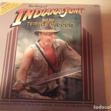 Discos de vinilo: THE STORY OF INDIANA JONES AND THE TEMPLE OF DOOM LP 1984 BUENA VISTA RECORDS - 62107 USA. Lote 191736957