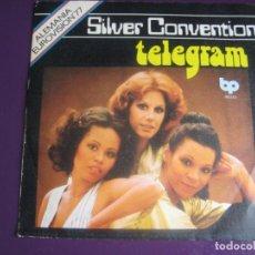 Discos de vinilo: SILVER CONVENTION SG BELTER BP 1977 - TELEGRAM +1 FESTIVAL EUROVISION - DISCO FUNK POP 70'S. Lote 191746411