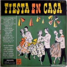 Discos de vinilo: VVAA (HENRY LECA, ALIX COMBELLE, BORIS SARBEK... - FIESTA EN CASA - LP SPAIN - PHILIPS P 10163 L . Lote 191749406
