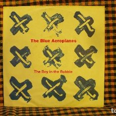 Discos de vinilo: THE BLUE AEROPLANES ‎– THE BOY IN THE BUBBLE / TALKIN' ON THE OTHERPHONE (EDIT), 1991, UK.. Lote 191756710