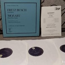 Discos de vinilo: FRITZ BUSCH CONDUCTS MOZART* / CHORUS* AND ORCHESTRA OF THE GLYNDEBOURNE FESTIVAL* _– COSÌ FAN TUTTE. Lote 191770791