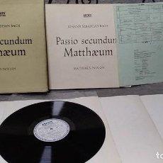 Discos de vinilo: J.S. BACH* /KARL RICHTER_–ST. MATTHEW PASSION (PASSIO SECUNDUM MATTHÆUM). Lote 191770820