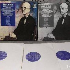 Discos de vinilo: MANUEL DE FALLA_–HOMENAJE EN SU CENTENARIO (EL AMOR BRUJO / EL SOMBRERO DE TRES PICOS / NOCHES EN . Lote 191770835