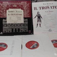 Discos de vinilo: TEATRO ALLA SCALA,GIUSEPPE VERDI_–IL TROVATORE. Lote 191770840