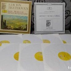 Discos de vinilo: BEETHOVEN - LIEDER - MUSICA CORAL. Lote 191770856