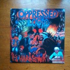 Discos de vinilo: OPPRESSED LOGIC ?– IT'S HARASSMENT, BEER CITY RECORDS ?– #110, ALBUM, PURPLE,1999. US:. Lote 191781518