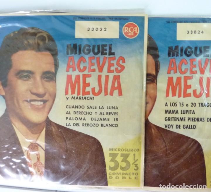 MIGUEL ACEVES MEJIAS // DOS DISCOS 33 /7 1958 // EP (Música - Discos de Vinilo - EPs - Grupos y Solistas de latinoamérica)